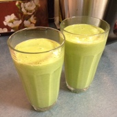 First (yummy) green smoothie