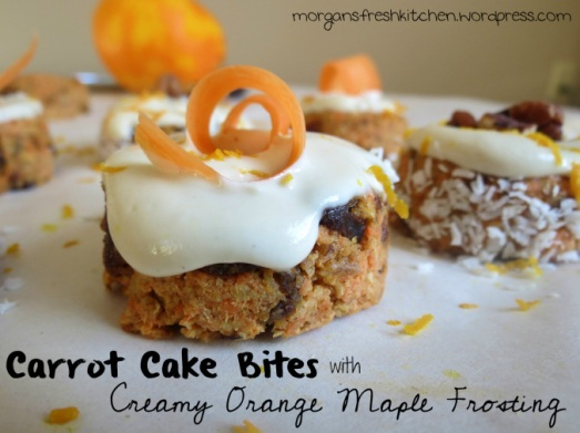 Carrot Cake Bites with Creamy Orange Maple Frosting